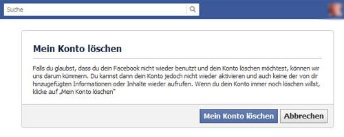 Facebook Abmeldung - so gehts
