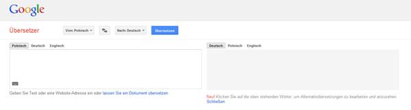 Google Online Übersetzer