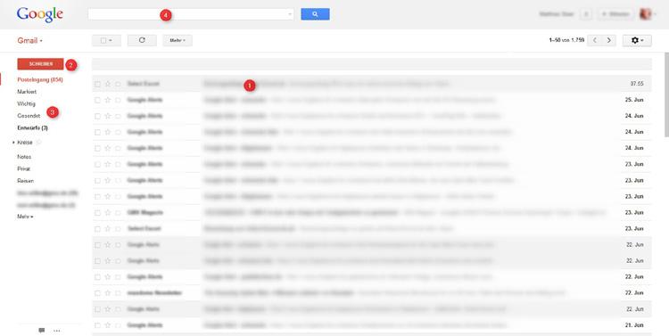 Gmail Konto Übersicht