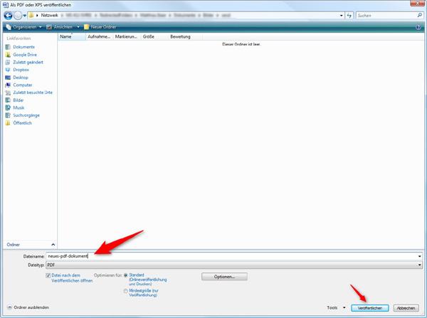 PDF Datei Speichern