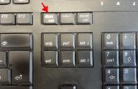 Druck Taste auf der tastatur finden
