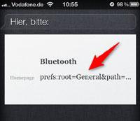 Bluetooth mit Siri
