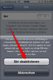 Siri abschalten