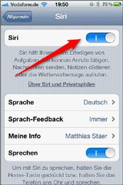 Siri ausschalten