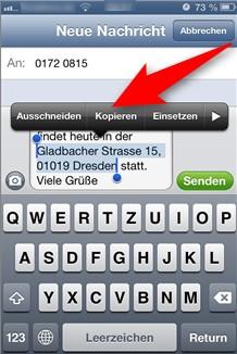 Copy & Paste mit dem iPhone