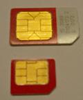 Größenvergleich SIM und Micro SIM