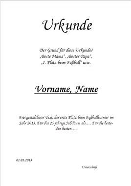 Urkunden Erstellen So Wirds Gemacht Inkl Gratis Urkundenvorlage