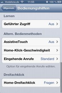 Assistive Touch aktivieren
