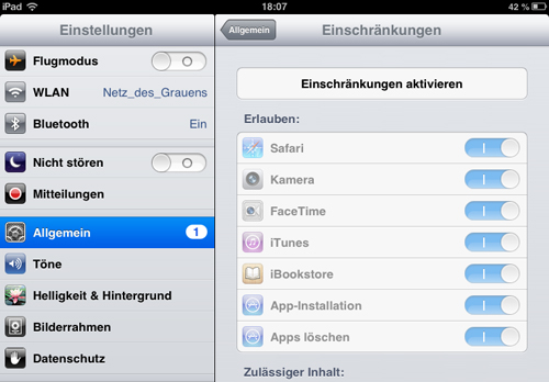 Apps mit Passwort versehen
