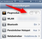 Flugmodus iPhone