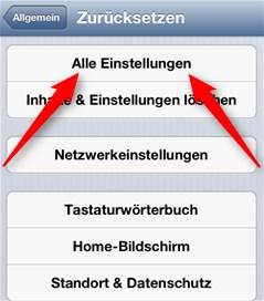 iPhone zurückstellen