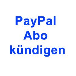 PayPal Abo Kündigen