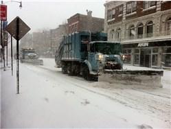 Schnee Schieben