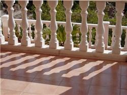Terrasse mit Balustraden