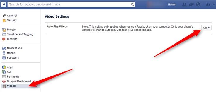 Facebook Autoplay abschalten