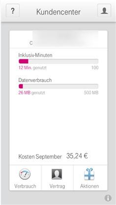 Telekom App Verbrauch