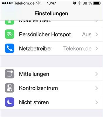 Nachtabschaltung iPhone