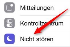 Nicht stören iPhone