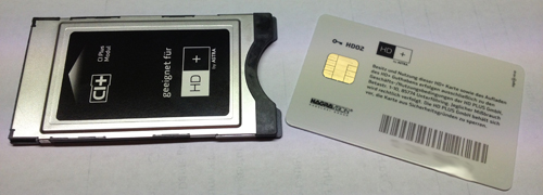 HD Plus Karte mit CI+ Modul