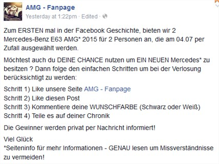 Mercedes E63 AMG Gewinnspiel