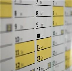 Kalender Werbung
