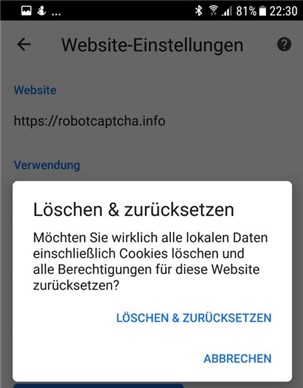 Android Chrome Spam