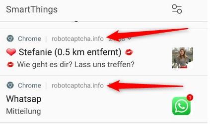 Chrome Spam Benachrichtigung
