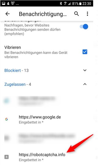 Spam Chrome Android